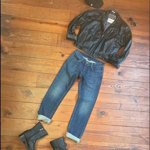 🍁Vintage 80s Leather Moto Bomber Jacket by Wilson